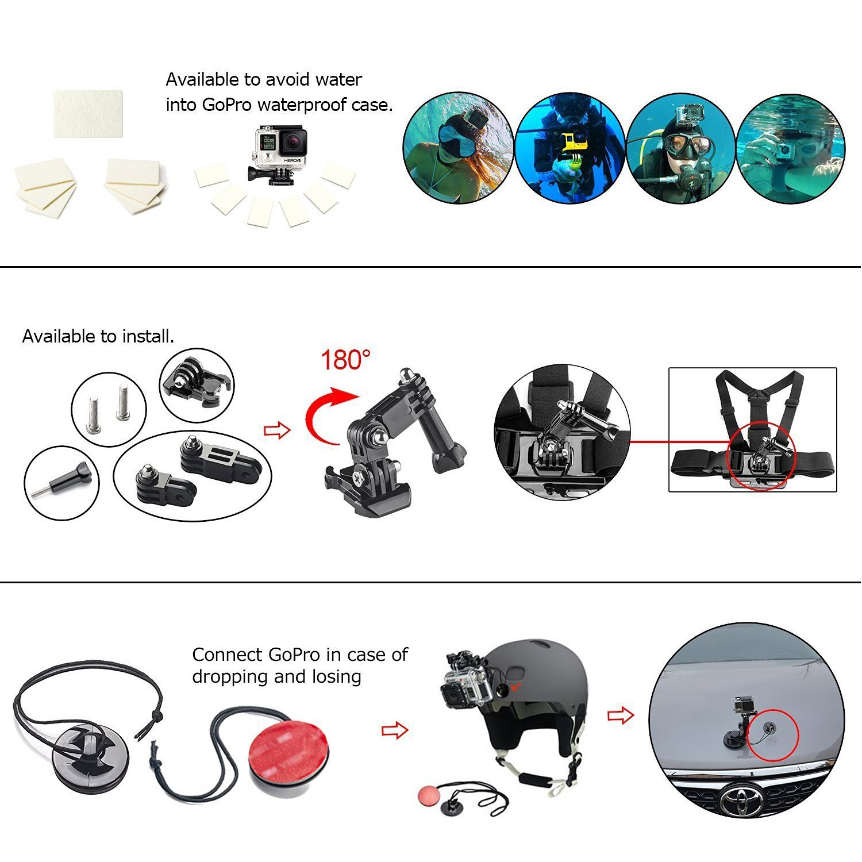 Amazon.com: Soft Digits Kit de accesorios Bundle para GoPro ...