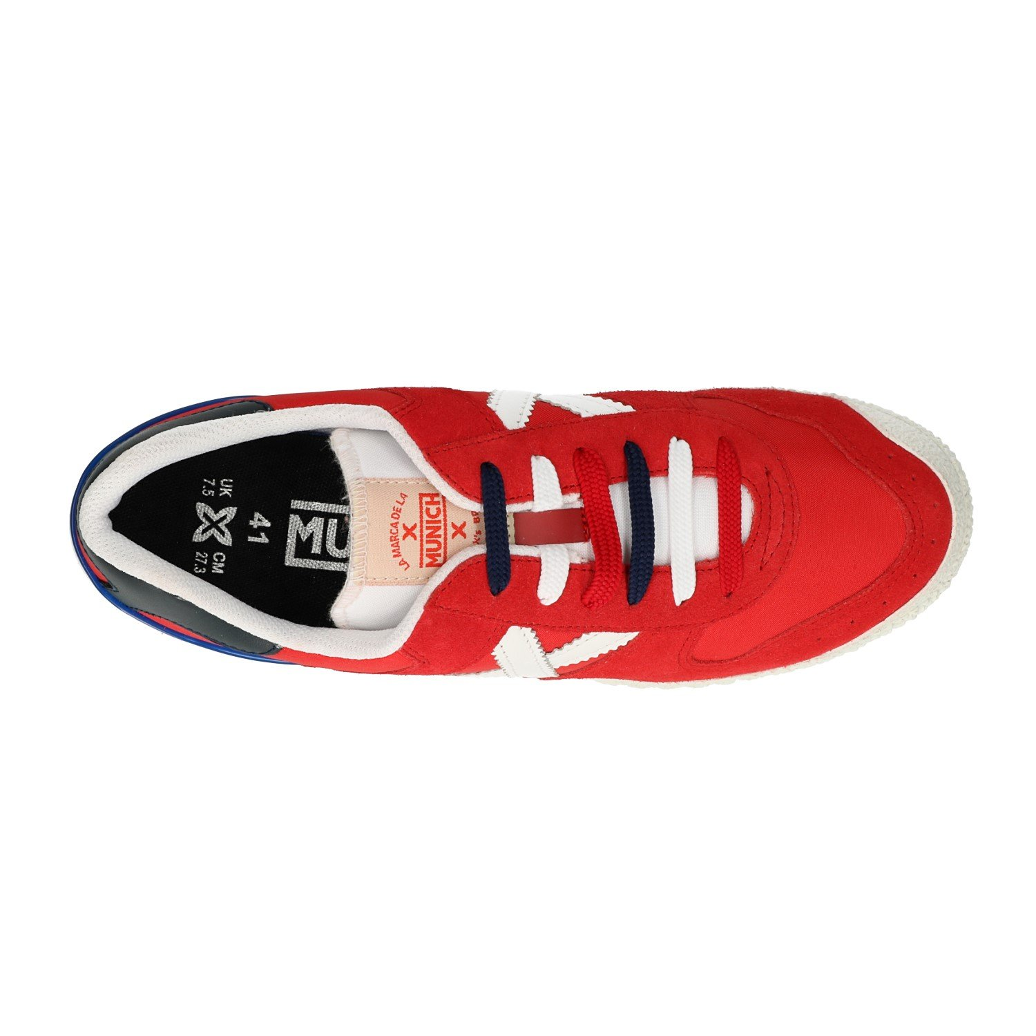 Munich Red Sneakers Goal 1376 (44 White): Amazon.co.uk