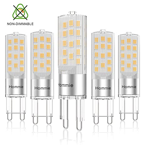 Bombillas LED G9 Cálida de 3.8W Equivale a Lámparas halógenas de 40W, Hommie 3000K