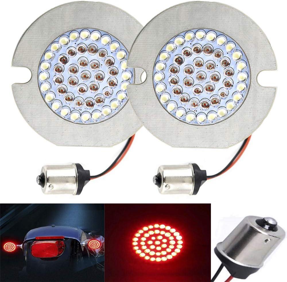 "ZYTC 3 1/4"" LED Turn Signals Flat Style Rear 1156 LED Turn Signal Kit For Harley Davidson"