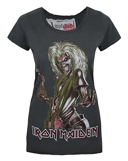 Amplified Clothing Mujeres Iron Maiden - Camiseta: Amazon.es: Ropa y accesorios