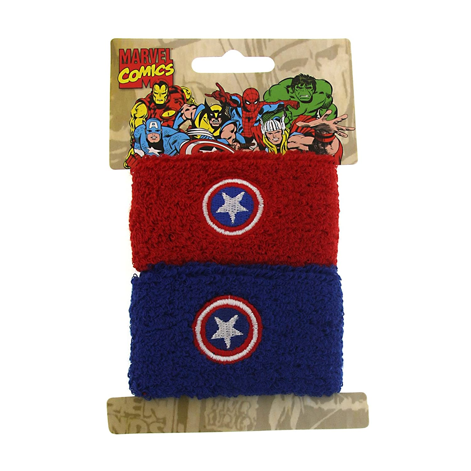 Amazon Superhero Captain America Double Cuff Sweat Bands Pony