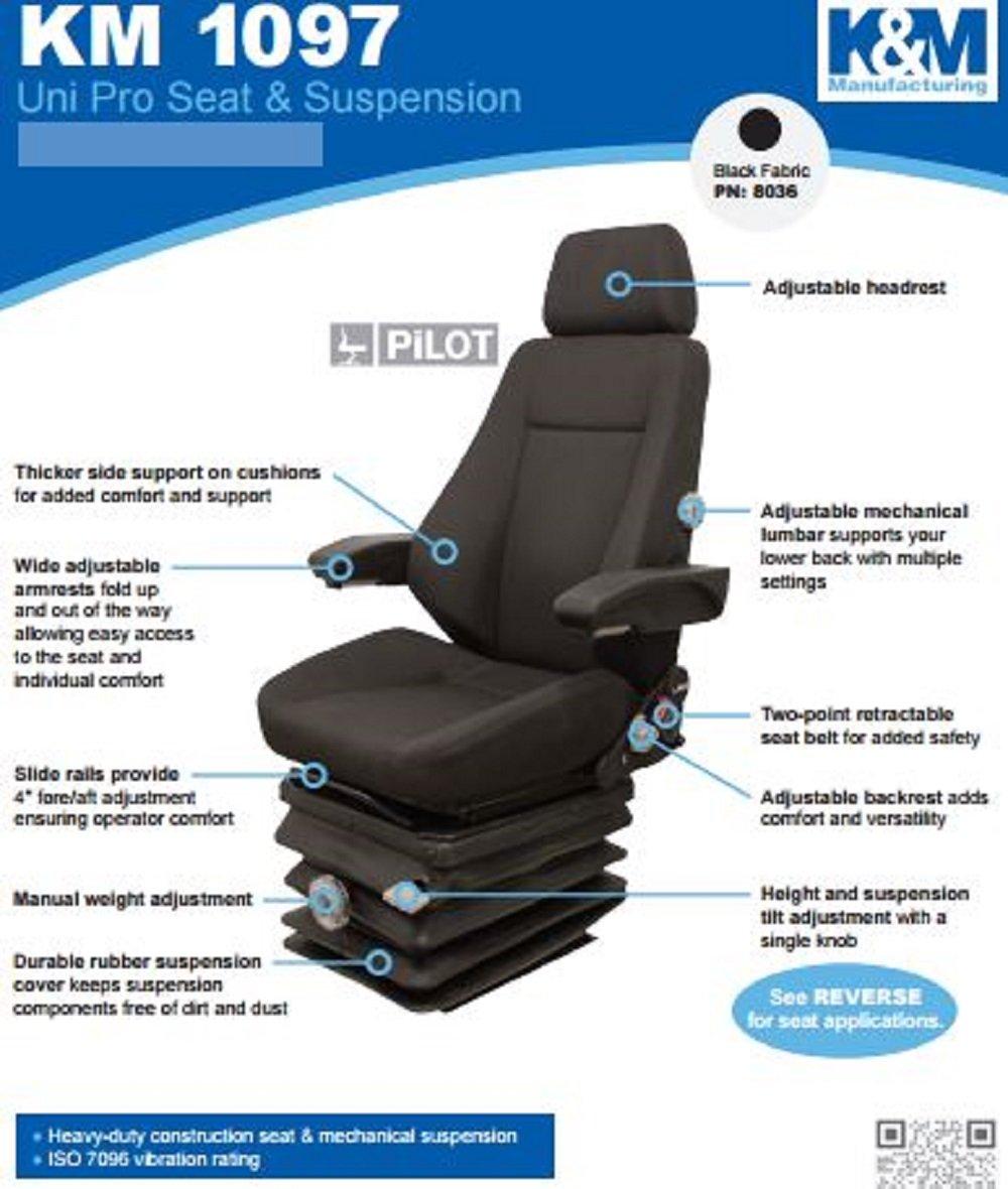 Amazon com: KM 1097 Uni Pro Seat and Suspension Seat Wheel