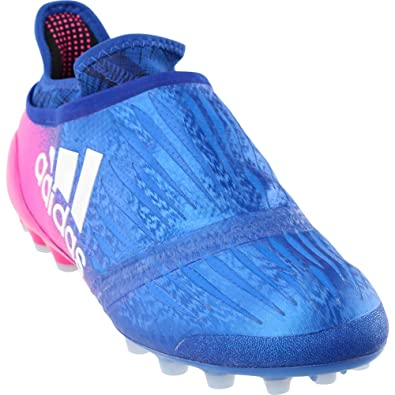 adidas X 16+ Purechaos AG Cleat Men s Soccer 6.5 Blue-White-Shock Pink 93e9428c3e