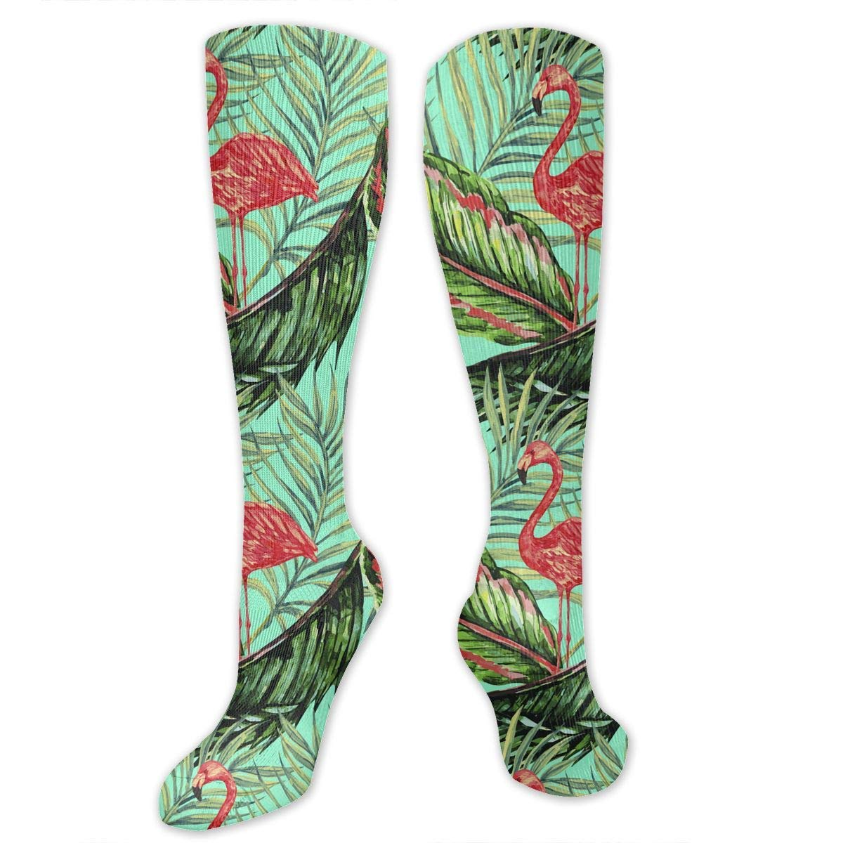 Vintage Flamingo Womens Knee High Socks Winter Warm Boot Socks Tube Stockings