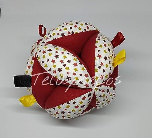 Pelota Montessori estrellas granate con tiras: Amazon.es: Handmade