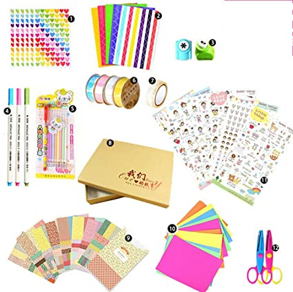 DIY álbum de fotos de Recortes, Kit, diseño decorar accesorios, Diary decoración Scrapbook