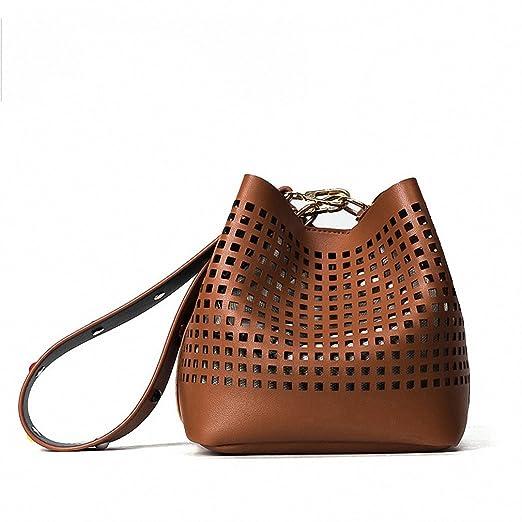 Amazon.com: Nueva Moda Hollow Mujeres Buckets bolsas ...
