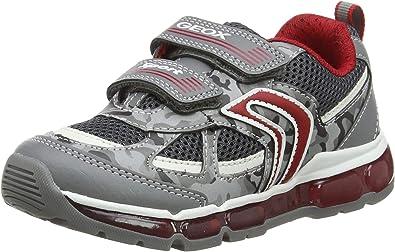 Geox Kids Inek Boy 2 High Top Light Up Velcro Sneaker