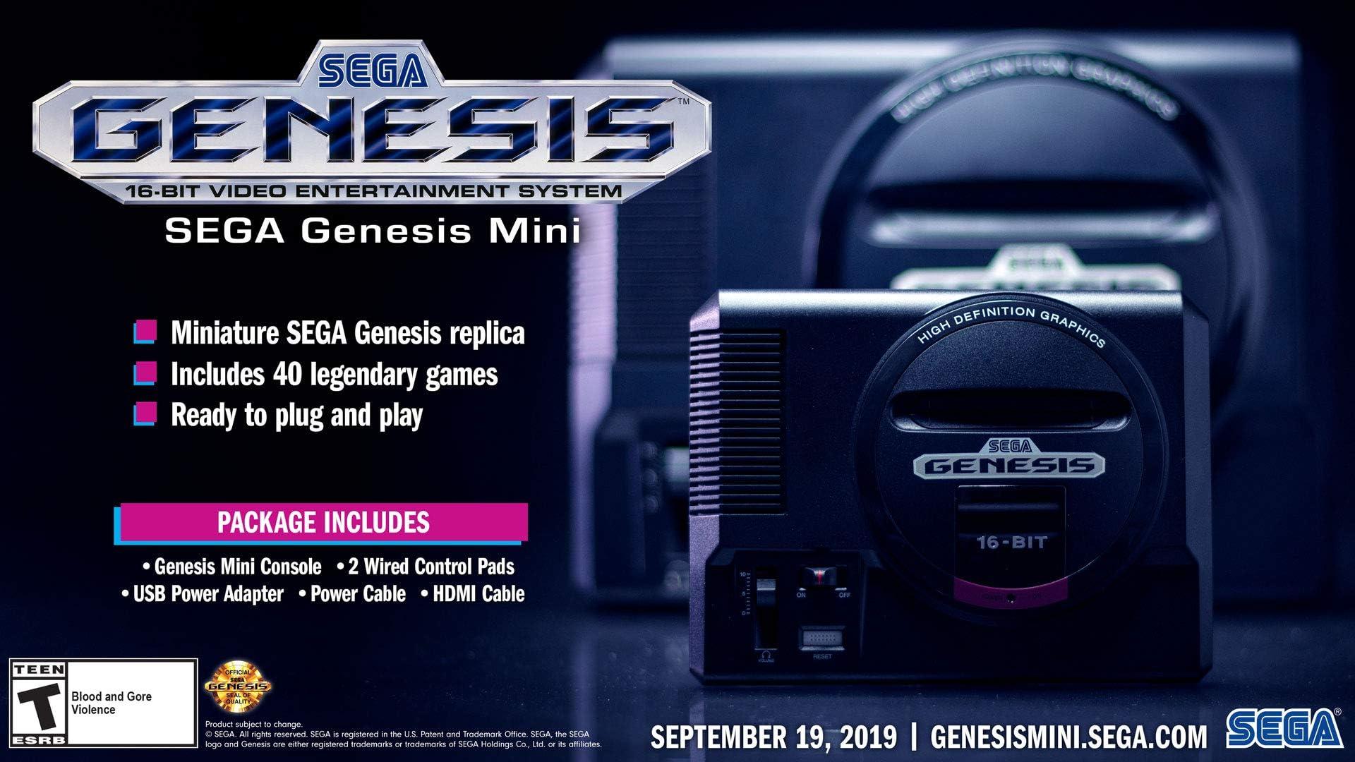 Amazon com: Sega Genesis Mini - Genesis: Video Games
