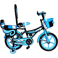 RAW BICYCLES Sports BMX Single Speed 14T inches Bicycle/Cycle for Kids 3 to 5 Years Boys & Girls with Training Side Wheels Blue
