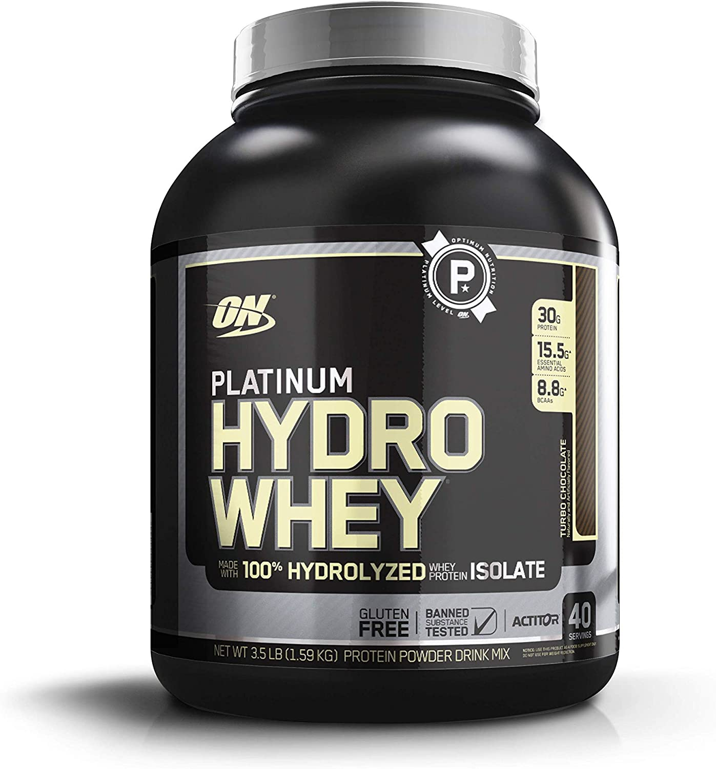 Amazon.com: Optimum Nutrition Platinum Hydrowhey Protein Powder, 100% Hydrolyzed Whey Protein Isolate Powder, Flavor: Turbo Chocolate, 3.5 Pounds: Health & Personal Care
