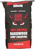 Jealous Devil 100% Natural Lump Charcoal, Restaurant Quality for Smoking and Grilling, 2-35lb bags