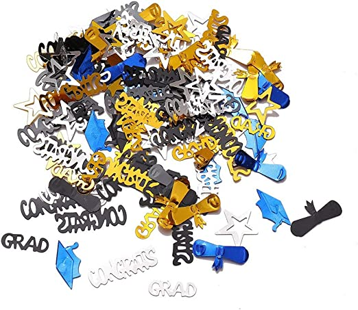 Graduation Party Wishes Cards Supplies 2019 Decorations Gold Black Glitter 60 P