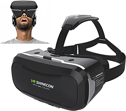 Amazon Com 3d Vr Glasses Teesen Shinecon 2 0 3d Vr Virtual Reality Headset Box With Head Mounted Headband Adjust Lens And Strap For Smartphones 4 5 6 0 Inch Iphone Samung Give You 360 Degree Panoramic Viewing