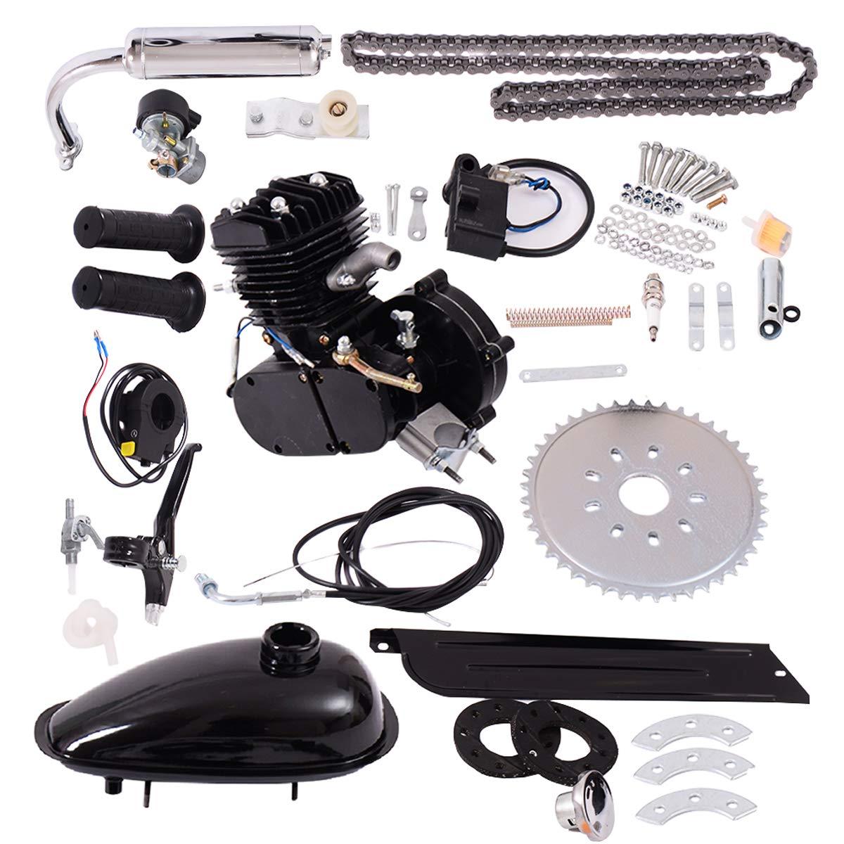 Bicycle Motor Kit 80cc 2-Stroke Bike Gasoline Motorized Gas Engine Bike  Motor Kit