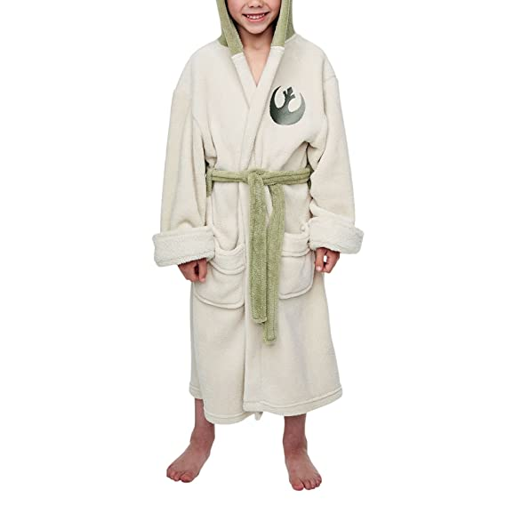 Star Wars Yoda Children\'s Dressing Gown with Gown and Towel: Amazon ...