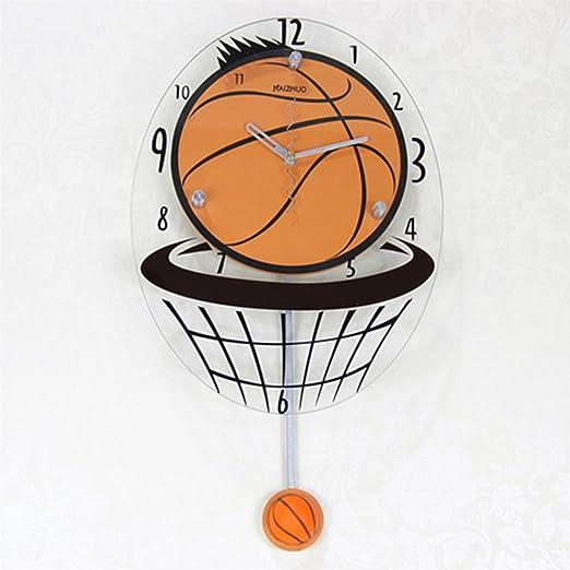 LPYMX,Reloj de Pared Baloncesto Creativo Sala de Estar ...