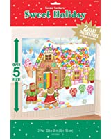 """Very Merry Christmas Sweet Holiday Scene Setters Add-Ons Party Decorations, Vinyl, 65"""" x 33"""", Pack of 2"""