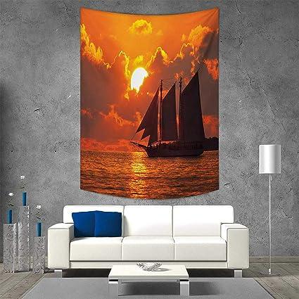 Amazon com: smallbeefly Sailboat Home Decorations Living
