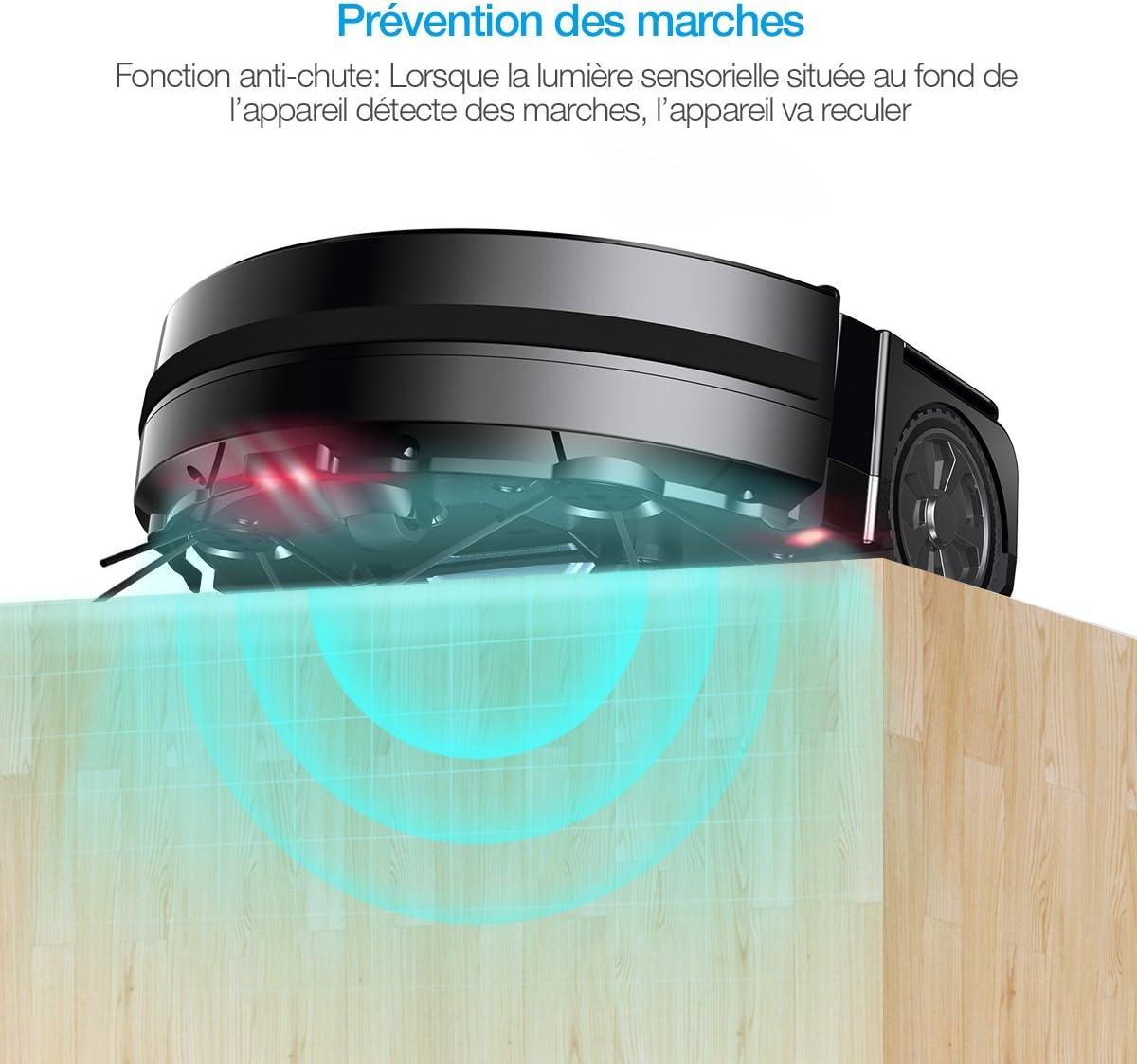 Housmile Robot Aspirador con Sensores, 2 Cepillos Laterales y 2 ...