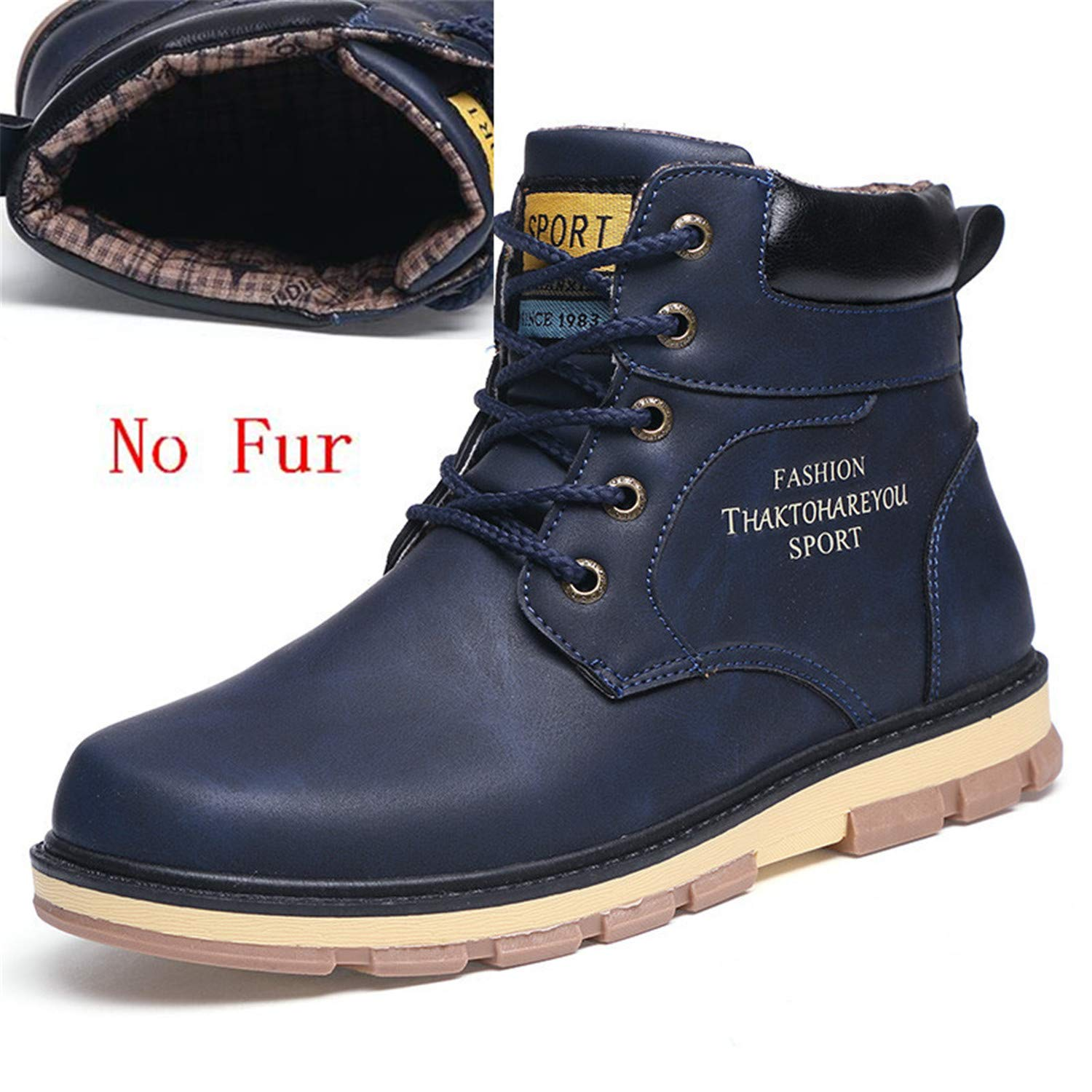 Leather Ankle Boots Men Autumn Waterproof Snow Boots Leisure Martin Autumn Boots Mens Shoes
