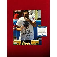 """$51 Get Joey Chestnut,""""Autographed"""" (Beckett)""""JAWS"""" INS. 8x10 Photo - Beckett Authentication - Autographed Sports Photos"""