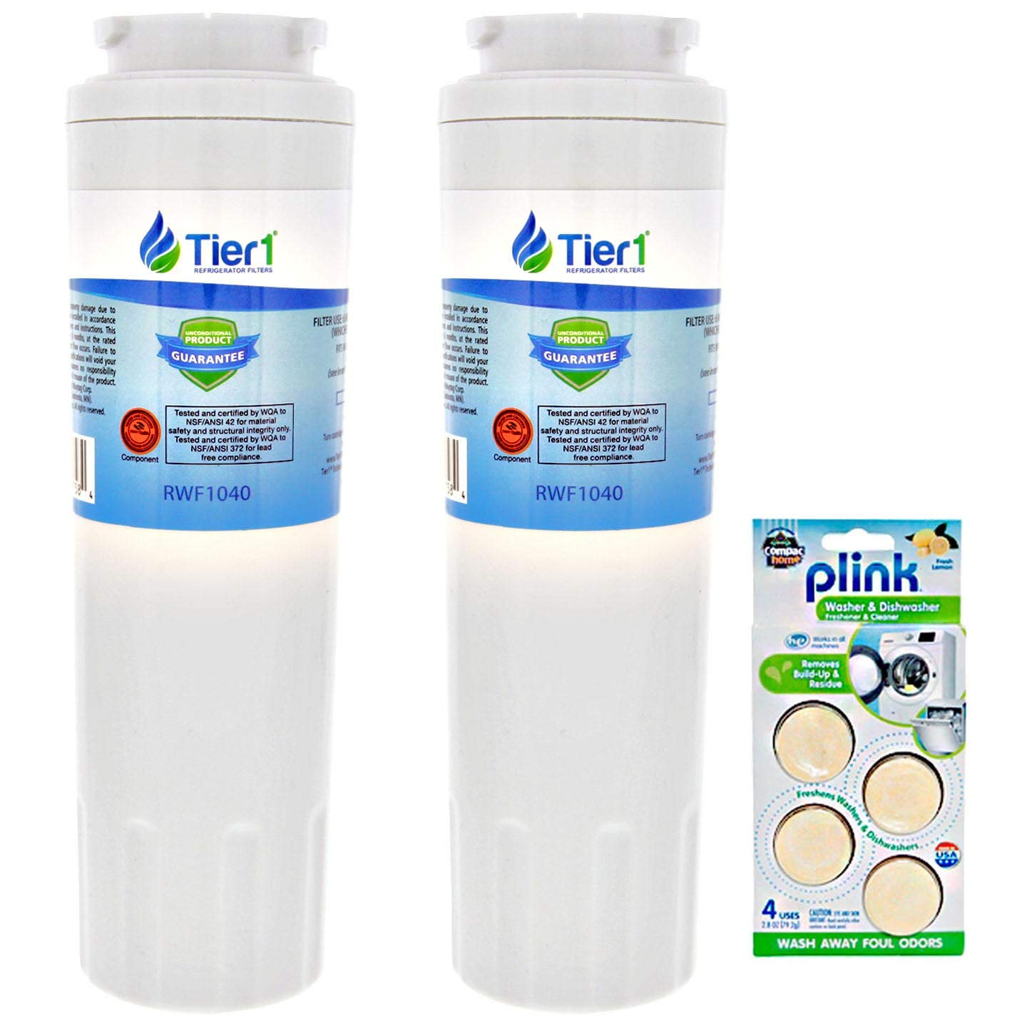 Tier1 Replacement for EveryDrop EDR4RXD1 Maytag UKF8001 Refrigerator Water Filter (3 Pack) and Washe