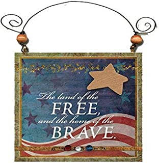 "product image for Imagine Design 4.5""x4.5"" Patriotic Single Star Free Hanging Plaque, 4.5"" x 4.5"""
