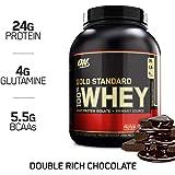 Optimum Nutrition 欧普特蒙 金牌乳清蛋白粉(含谷氨酰胺和支链氨基酸,蛋白质奶昔),双重巧克力,74 蛋白质,2.27kg
