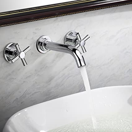 Lightinthebox Contemporary Warerfall Bathroom Sink Faucet Wall Mount ...