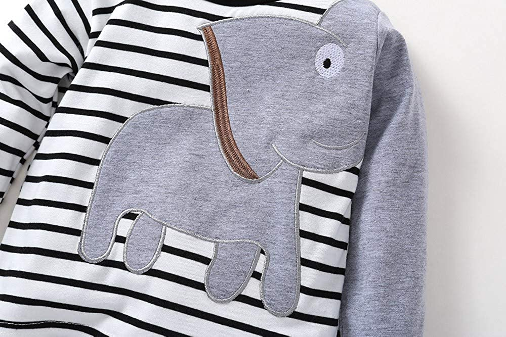 Hosen 0-24 Monate Baby Jungen M/ädchen Langarm Elefant Druck Pullover mit Streifen Stretch Pants Herbst Winter Outfits Set Kauf 2 St/ück 10/% sparen Zhen Baby Kleidung Sets Sweatshirt