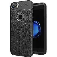 """Coque iPhone 7/8 (4.7""""), NEWC® Coque de Protection avec Absorption de Choc et Fibre de Carbone [Silicone en Gel Flex] pour iPhone 7/8 (4.7"""")"""