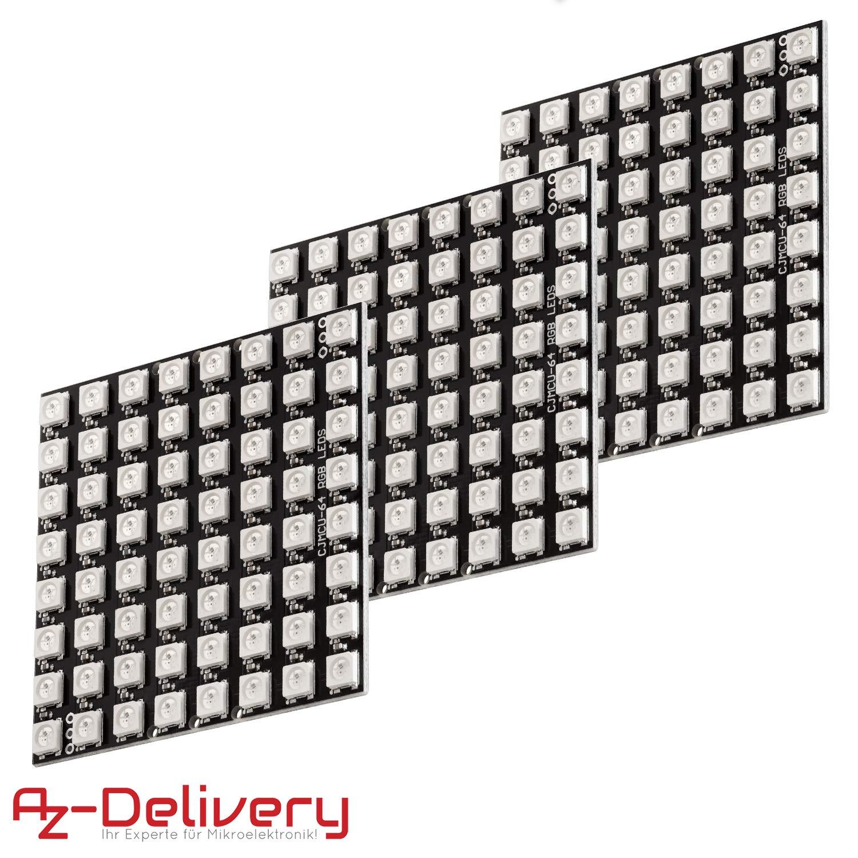 AZDelivery U 64 LED Matrix CJMCU-8 8 Panel Module pour Arduino et Raspberry Pi y compris un eBook