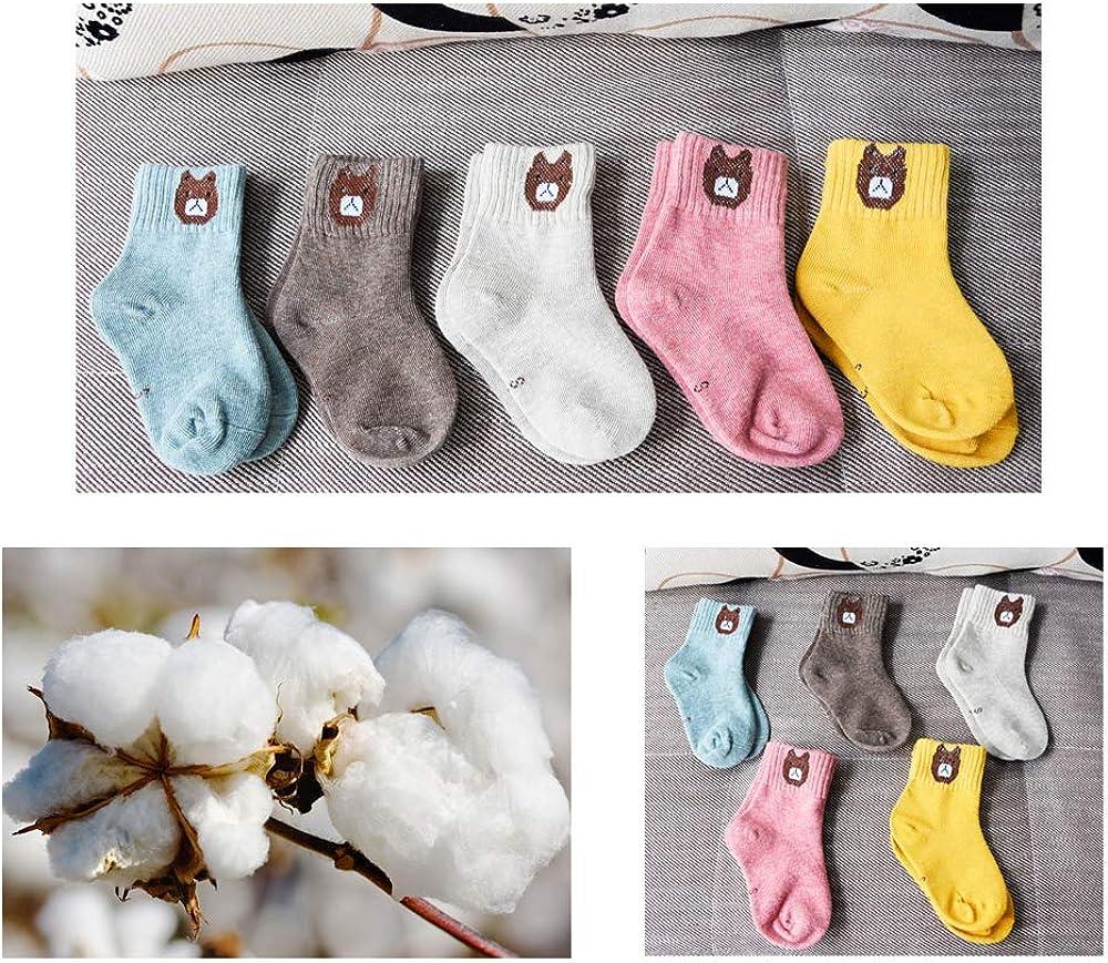 SUNWIND 5 Paar Madchen und Jungen Warme Baumwoll Socken Atmungsaktiv Kinder Bequeme Socken