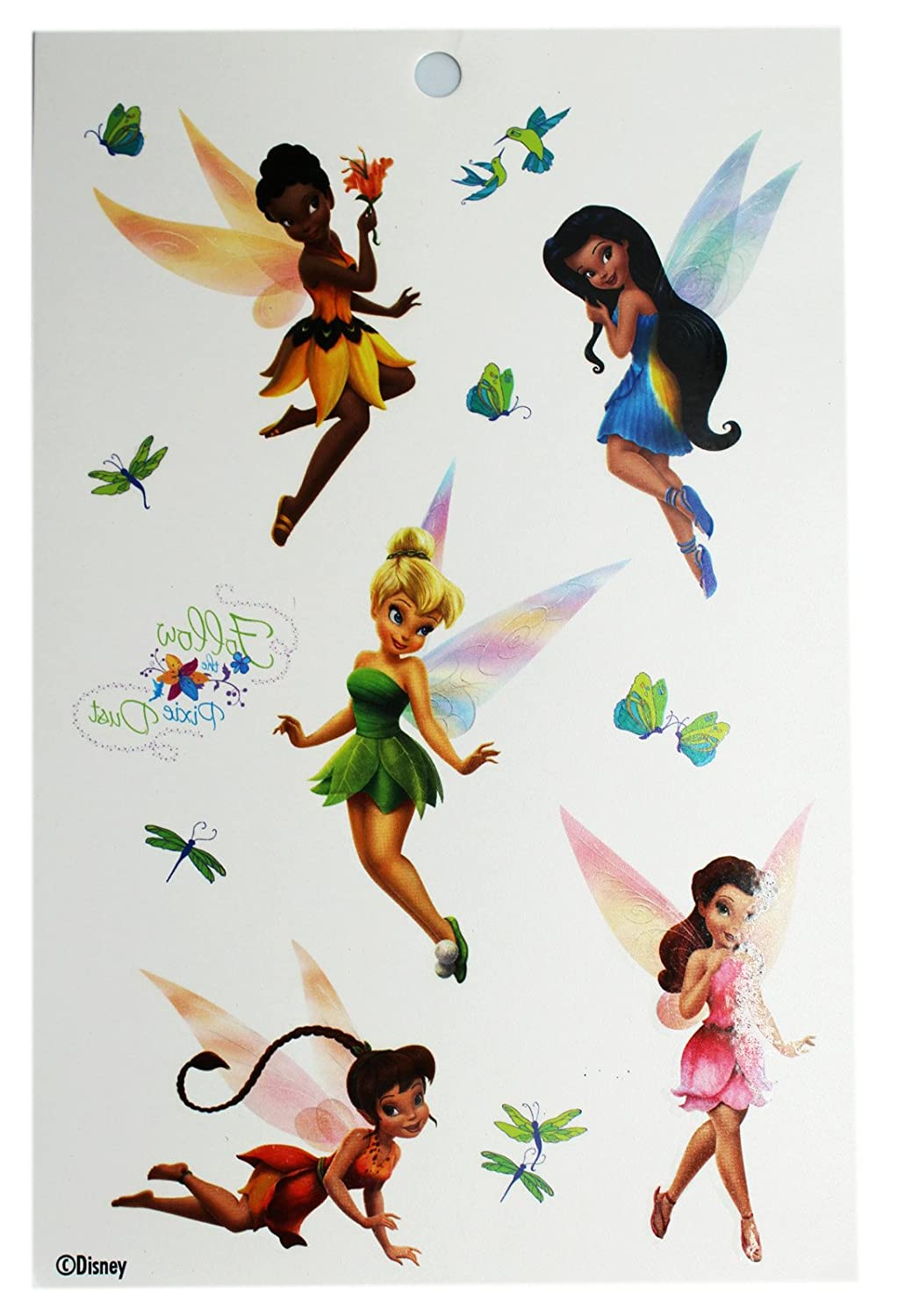 Disney Fairies Follow the Pixie - Tatuajes temporales: Amazon.es ...