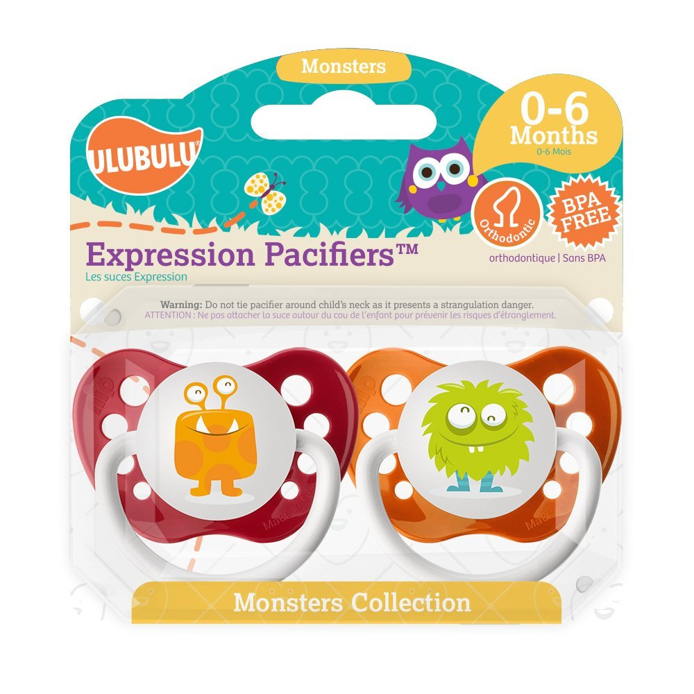 Amazon.com : Monster Collection Chupete Double Pack, 0-6 ...