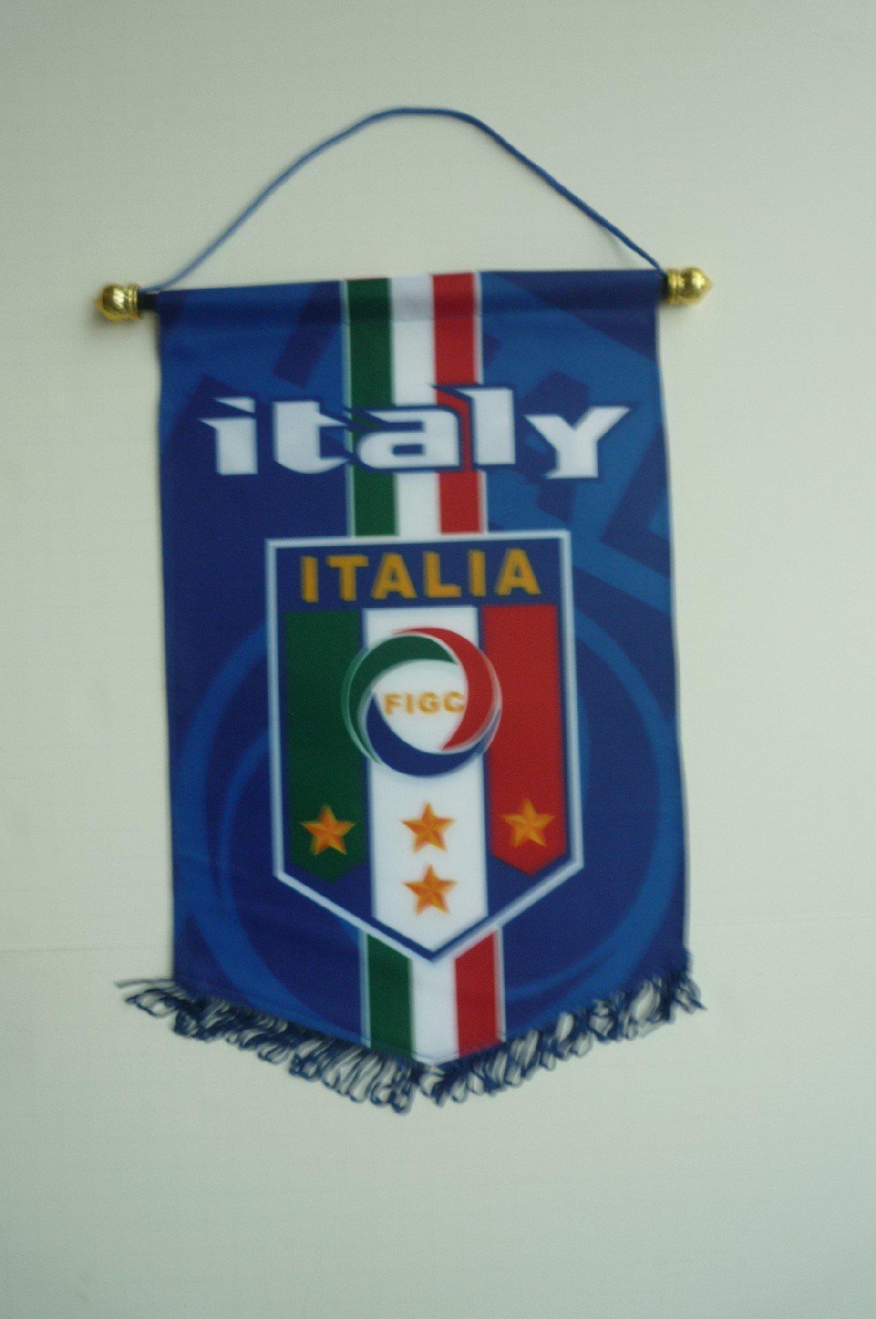 ITALIA ITALY BADGE LOGO FOOTBALL SOCCER PENNANT BANNER
