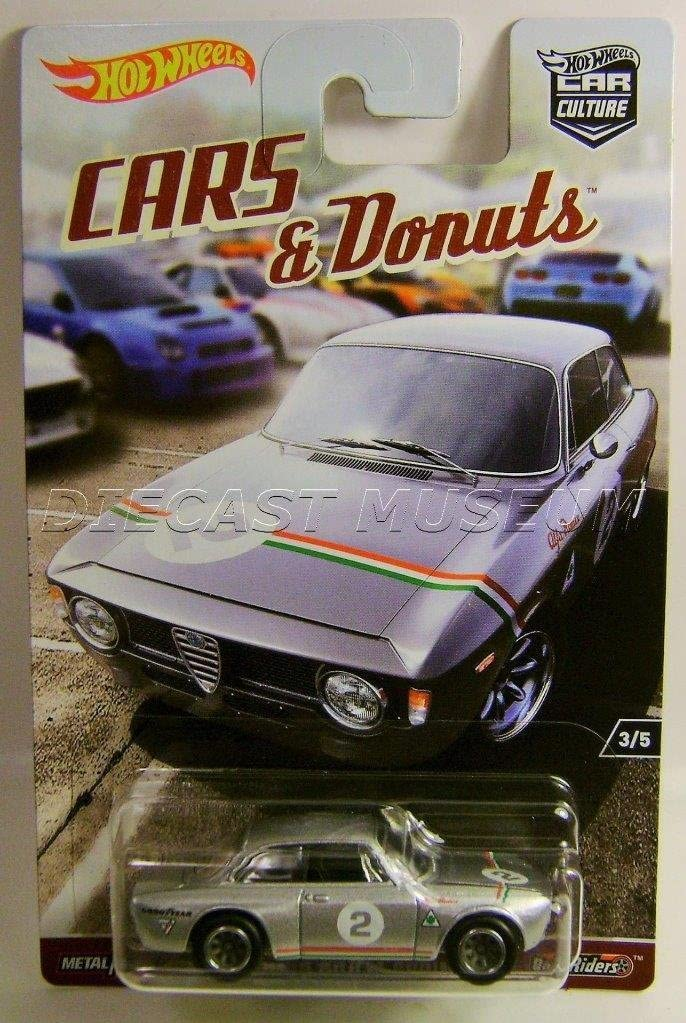 ALFA ROMEO GIULIA SPRINT GTA CARS & DONUTS CAR CULTURE RR HOT WHEELS DIECAST