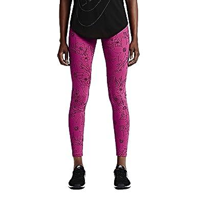 dfadab29aeafd0 Amazon.com: Nike Women's Leg A See Hawaiian 2 Tights-Fuchsia/Black ...