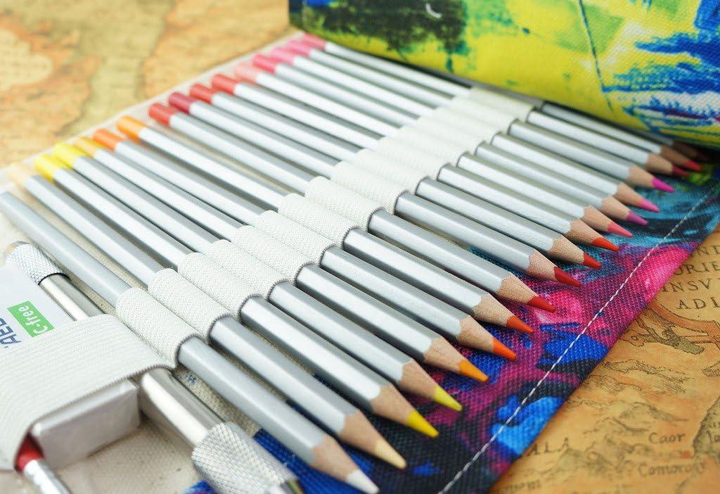 anmerkung:keine Farbstifte Cre-go Federmappe Schlamperrolle M?ppchen Bleistiftkasten f/¨/¹r 72 farbige stifte -Bohemian,72 Holes