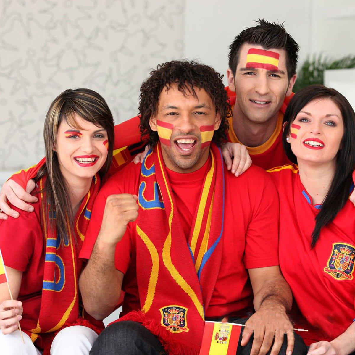 Spanien Fans Tattoo Fahnen Set Hemore WM Fu/ßball Tattoos 6 Bl/ätter