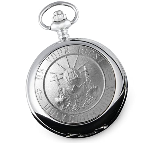 Boy's First Holy Communion Pocket Watch Gift with Presentation Box, 1st Communion Gifts