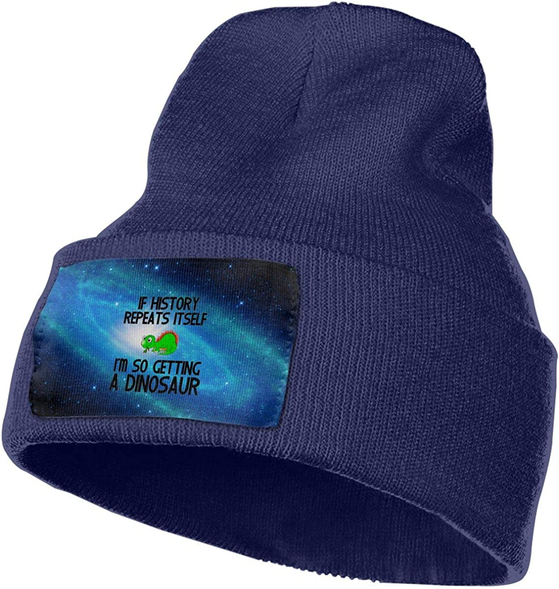 Im Getting A Dinosaur Winter Beanie Hat Knit Skull Cap for for Men /& Women Helidoud If History Repeats