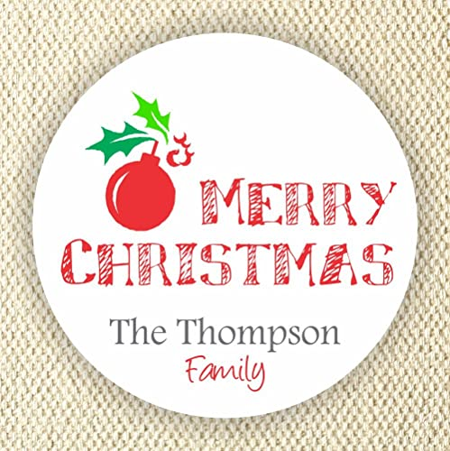 amazon com merry christmas labels personalized holidays stickers