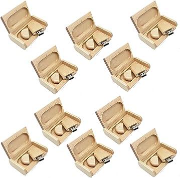 A Plus+ 10 Piezas Madera 8GB Memoria USB Flash Drive con Cajas de Madera: Amazon.es: Electrónica