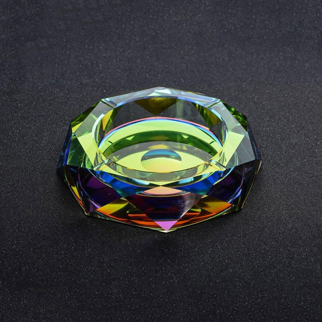 ラグジュアリー雰囲気のクリスタルガラス灰皿カラーダヴィンチオクタゴンクリエイティブパーソナリティトレンドホームリビングルームコーヒーテーブルホテルクラブ灰皿ビジネスギフト CHENGYI (サイズ さいず : 18*18*4cm) B07D7X6W7M18*18*4cm