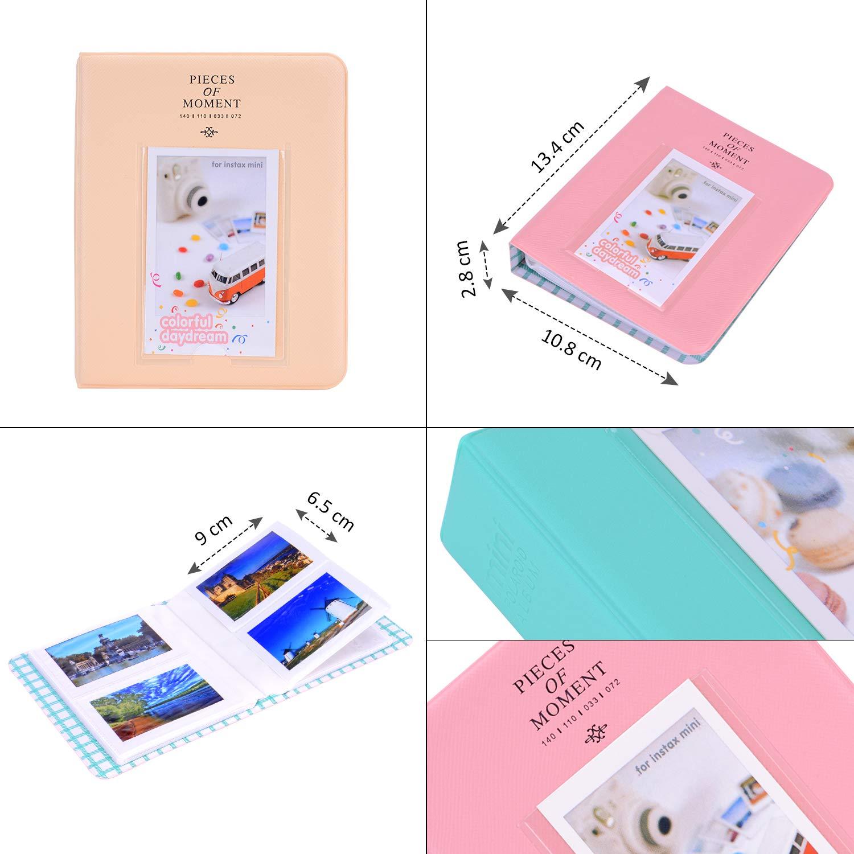 Album//Objectif Selfie//Filtres//Sticker Appareil Photo avec /étui Mini 9 Bsuuy Instax Mini 9 Pack daccessoires pour Appareil Photo pour FujiFilm Instax Mini 9 8 8 12 en 1 Pivoine Bleue