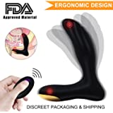 PALOQUETH Male Vibrating Prostate Massager Sex Toy with 2 Powerful Motors and 10 Stimulation Patterns for Wireless Remote Control Anal Pleasure