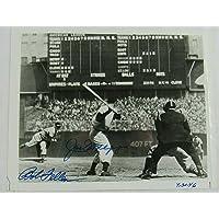 $408 » Joe DiMaggio Bob Feller Signed Auto Autograph 8x10 Photo BB34821 - JSA Certified - Autographed MLB Photos